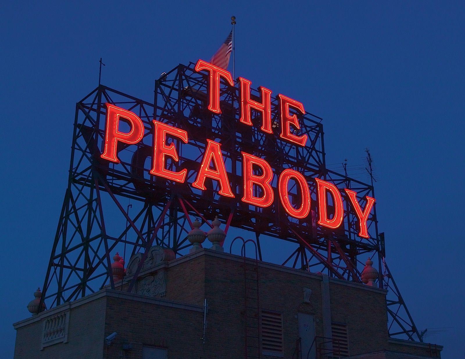 The Peabody Memphis Exterior Sign