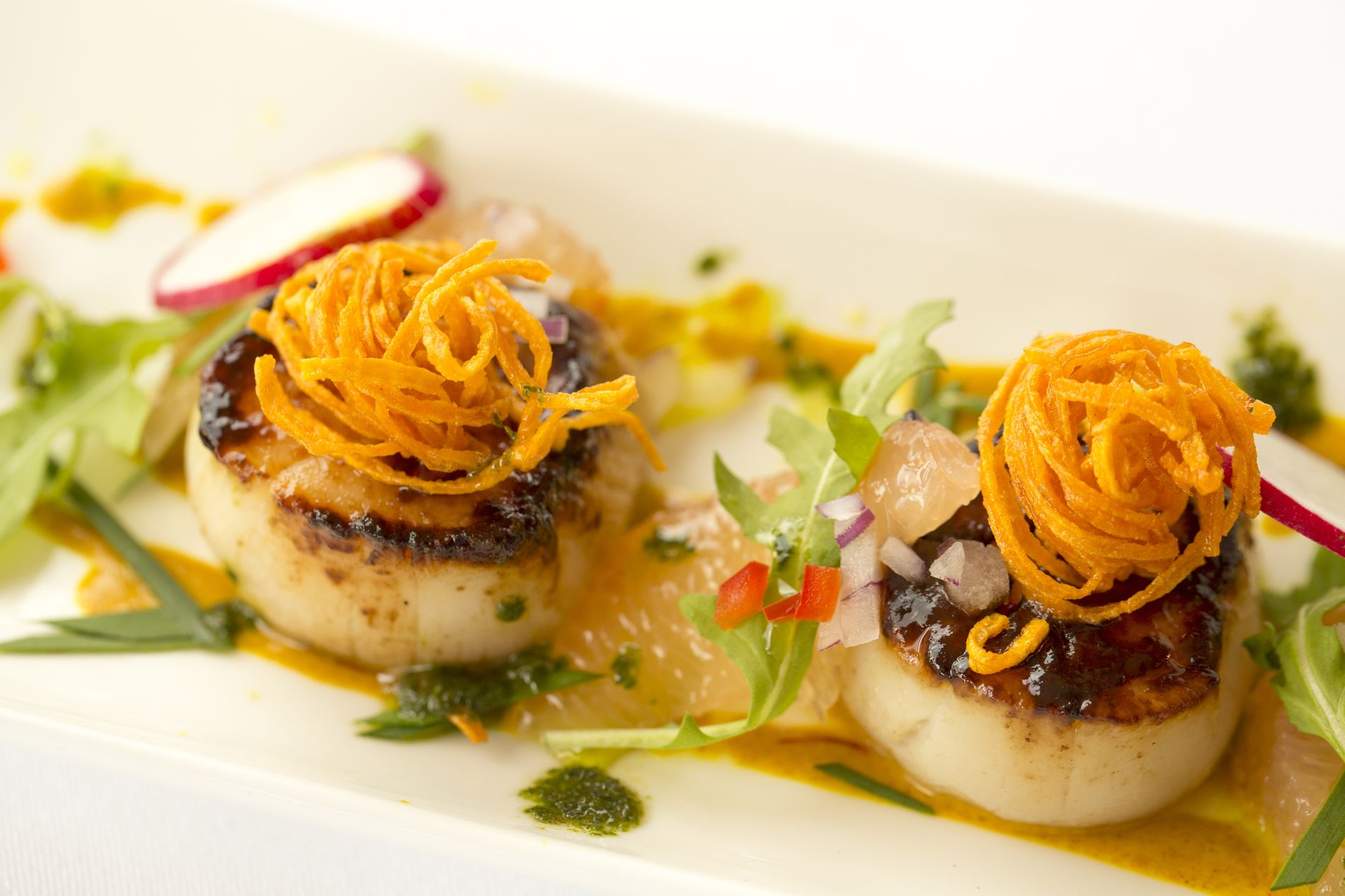 Scallop entrée at The Terrace