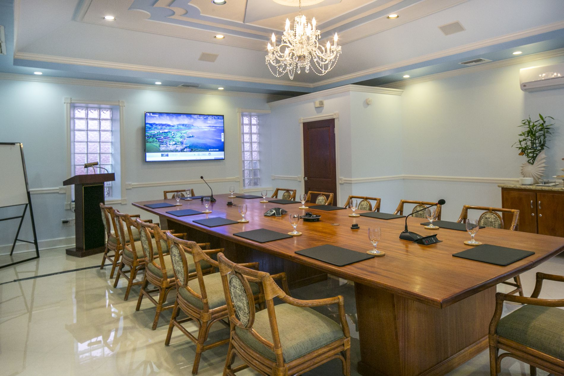 Cotton House Conference Room with podium