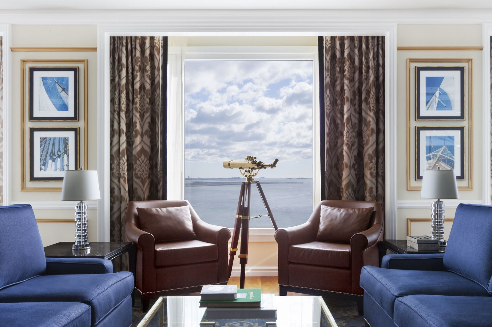 Presidential Suite with view of the Boston Harbor