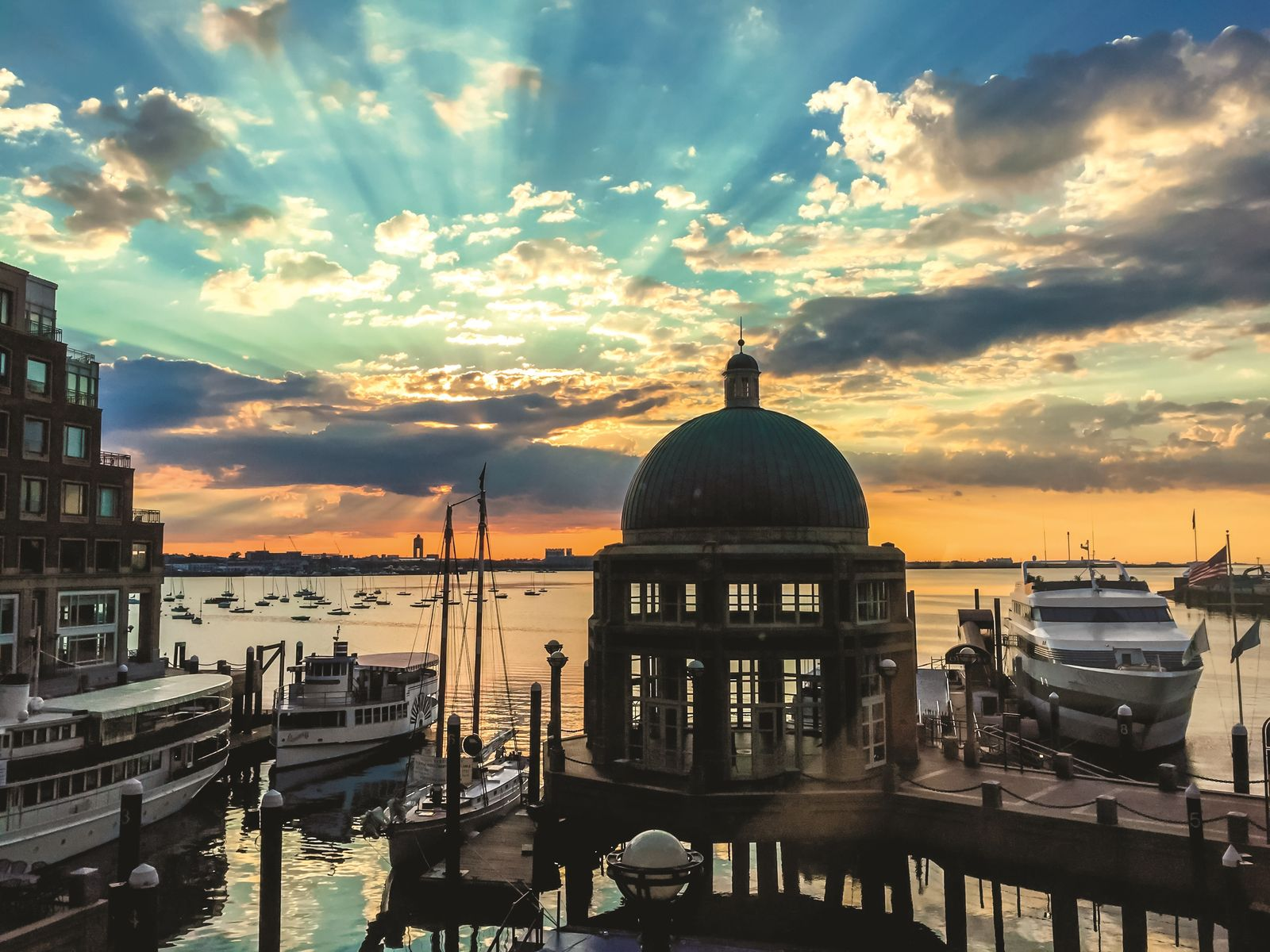 Sunrise over Boston Harbor