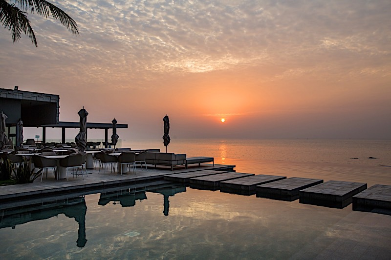 Coucher du soleil à Noom Hotel Conakry