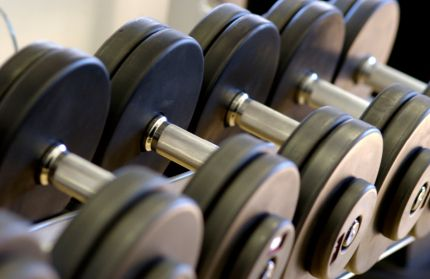 Row of hand weights