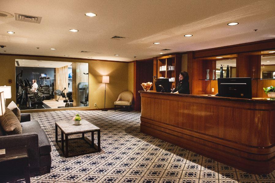Boston Harbor Hotel lobby and reception area