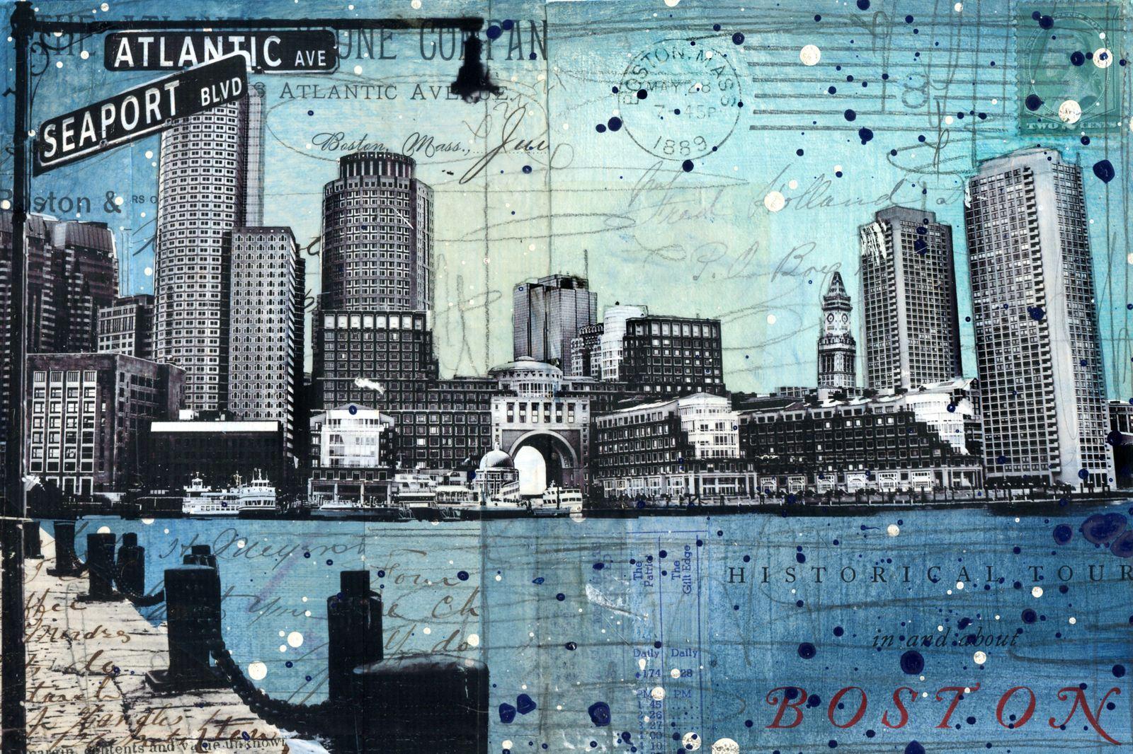 Artistic portrait of Boston area