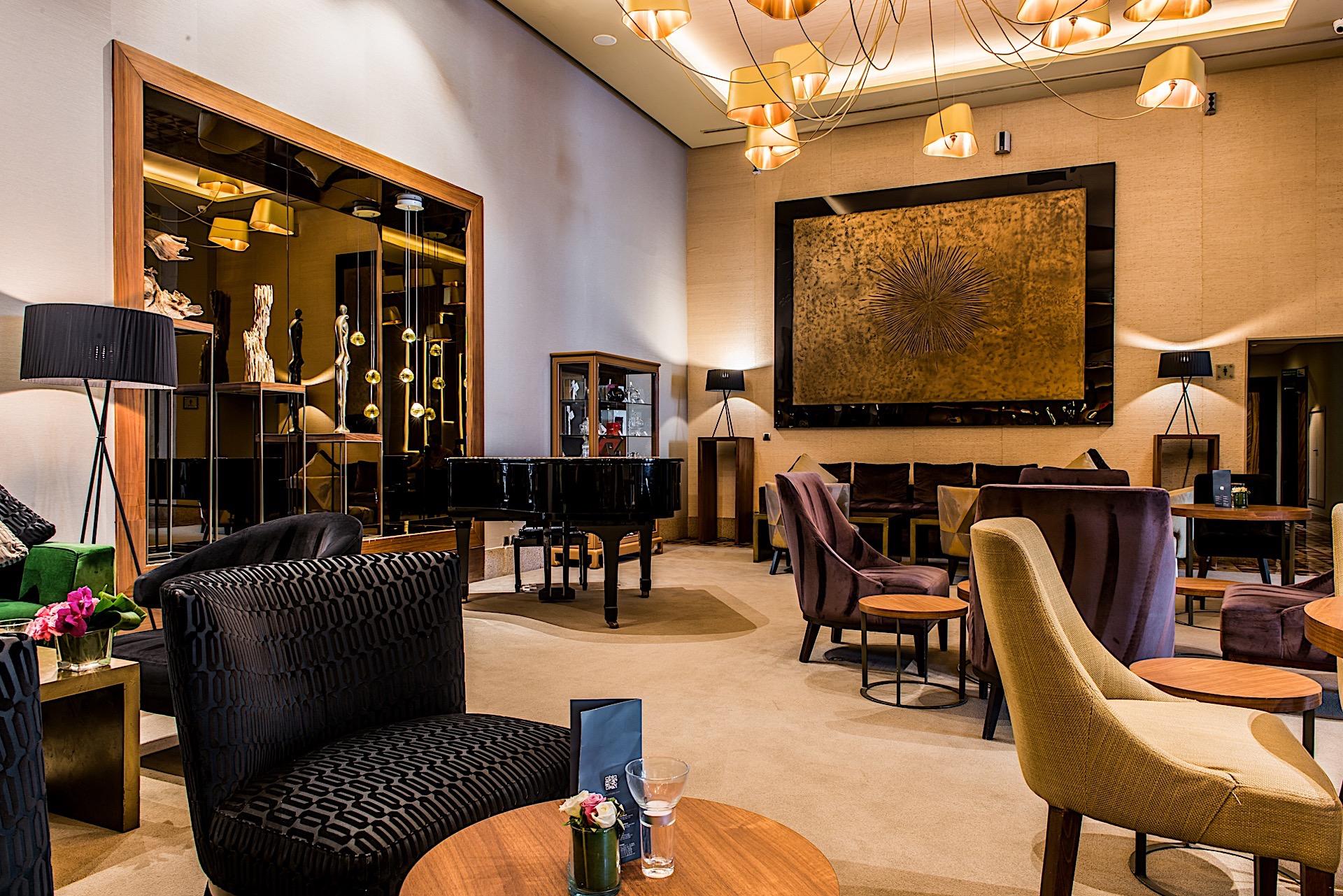 Lobby Bar at Kenzi Tower Hotel in central Casablanca, Morocco