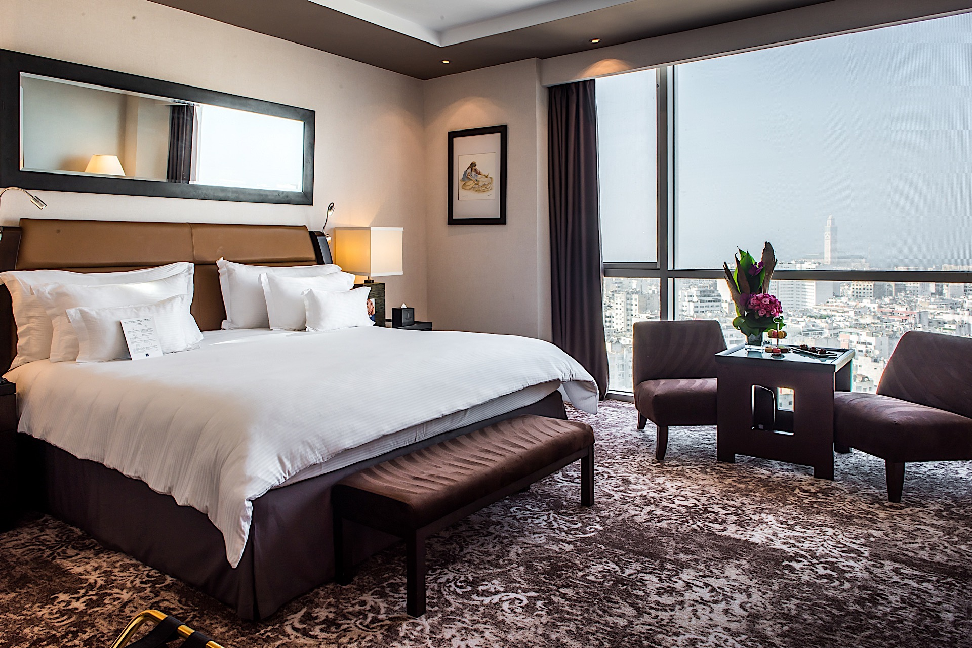 Deluxe Sky Suite at Kenzi Tower Hotel in central Casablanca, Mor