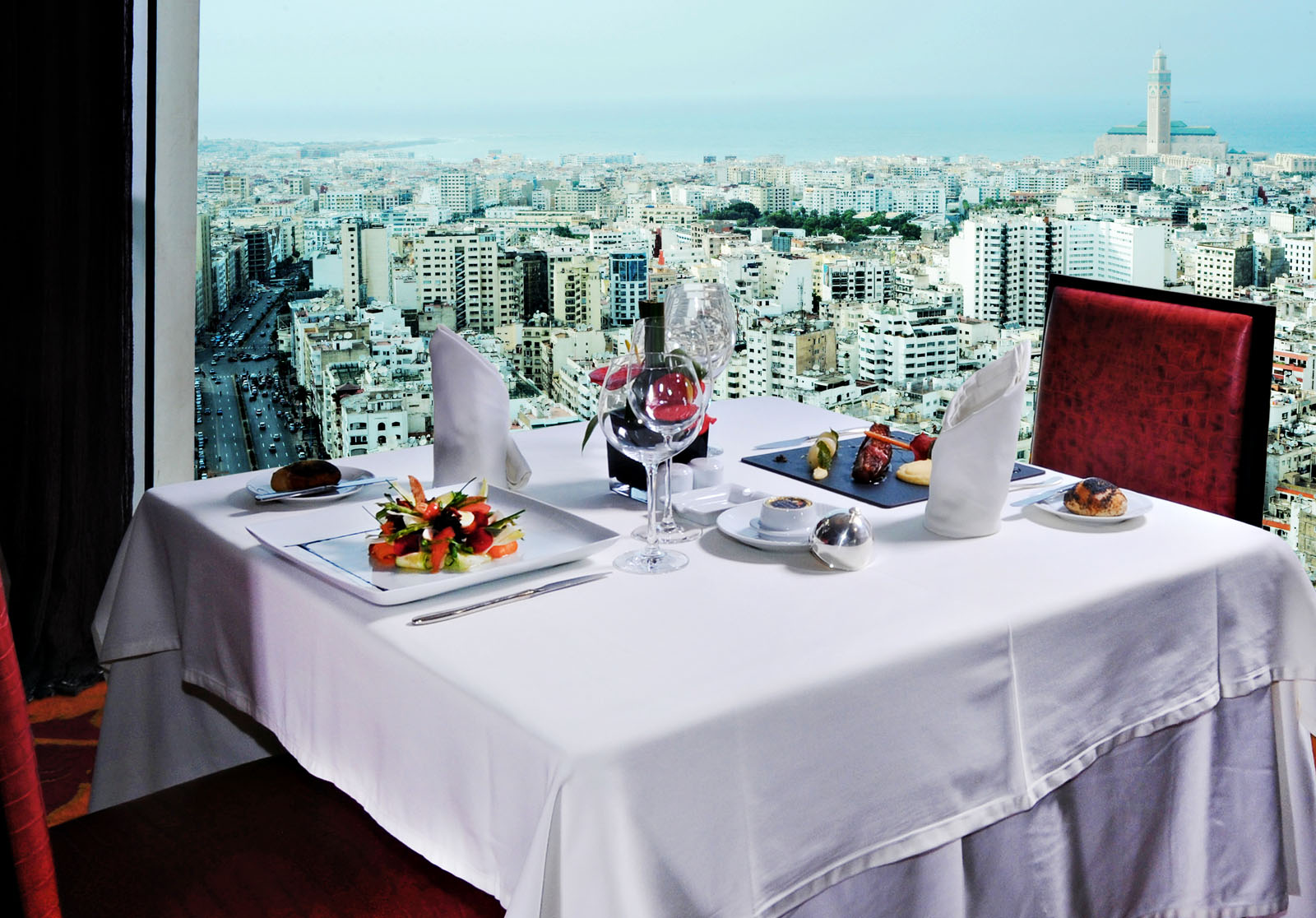 Restaurant at Kenzi Tower Hotel in central Casablanca, Morocco