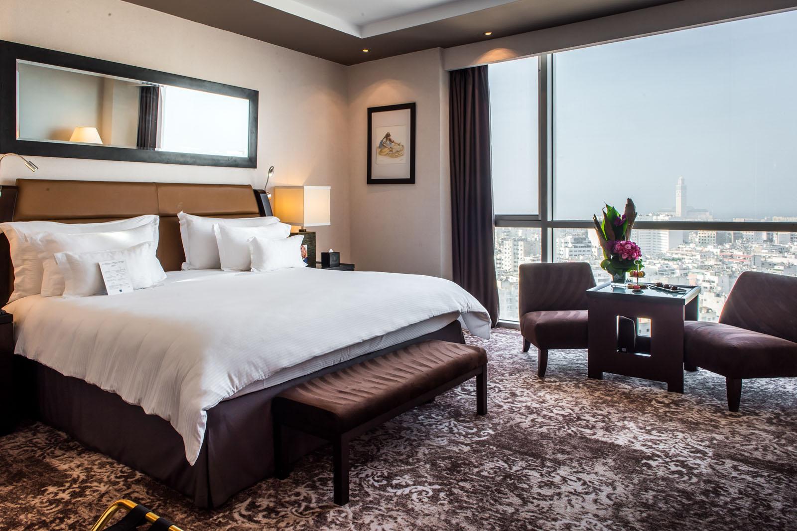 Deluxe Sky Room at Kenzi Tower Hotel in central Casablanca, Moro