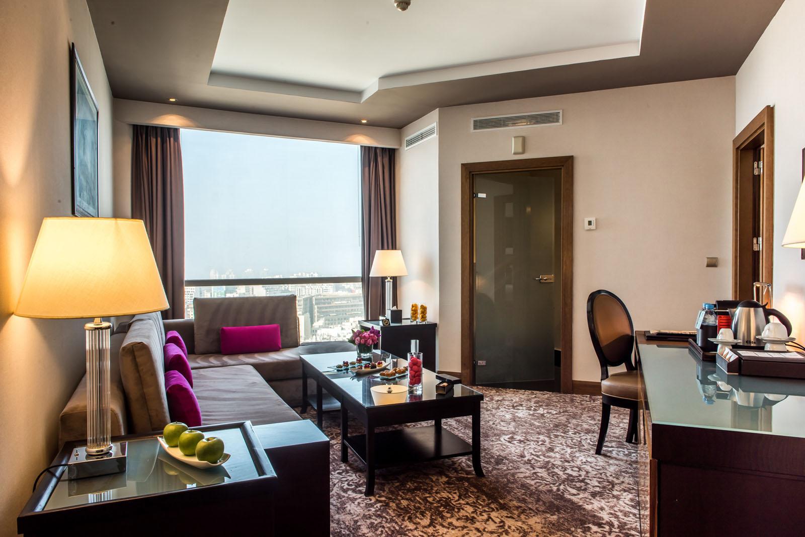 Premium Suite at Kenzi Tower Hotel in central Casablanca, Morocc