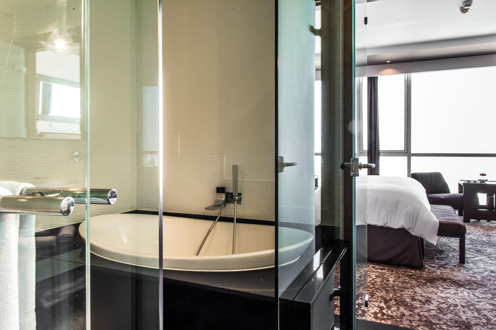 Bathroom at Kenzi Tower Hotel in central Casablanca, Morocco