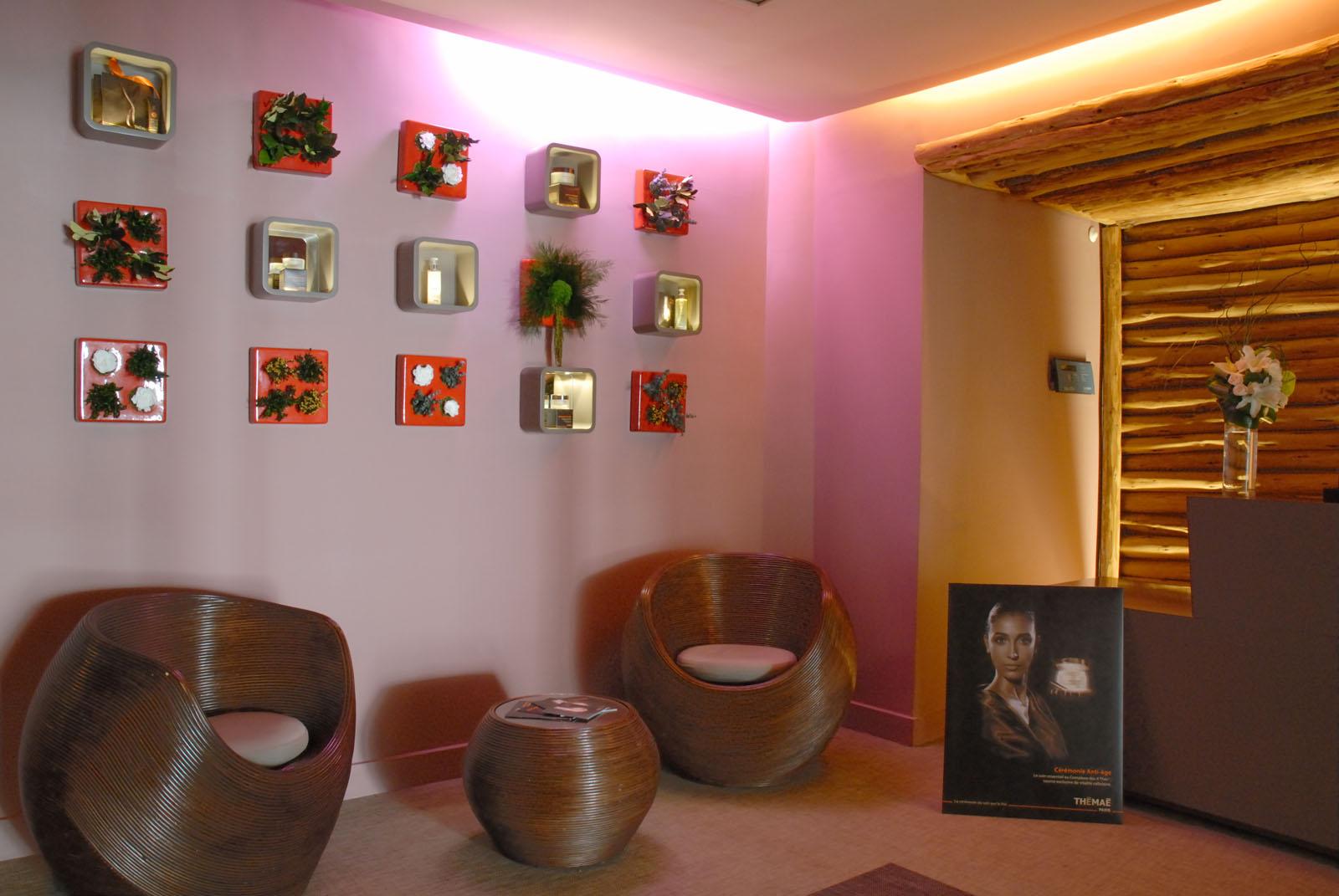Spa reception at Kenzi Tower Hotel in central Casablanca, Morocc