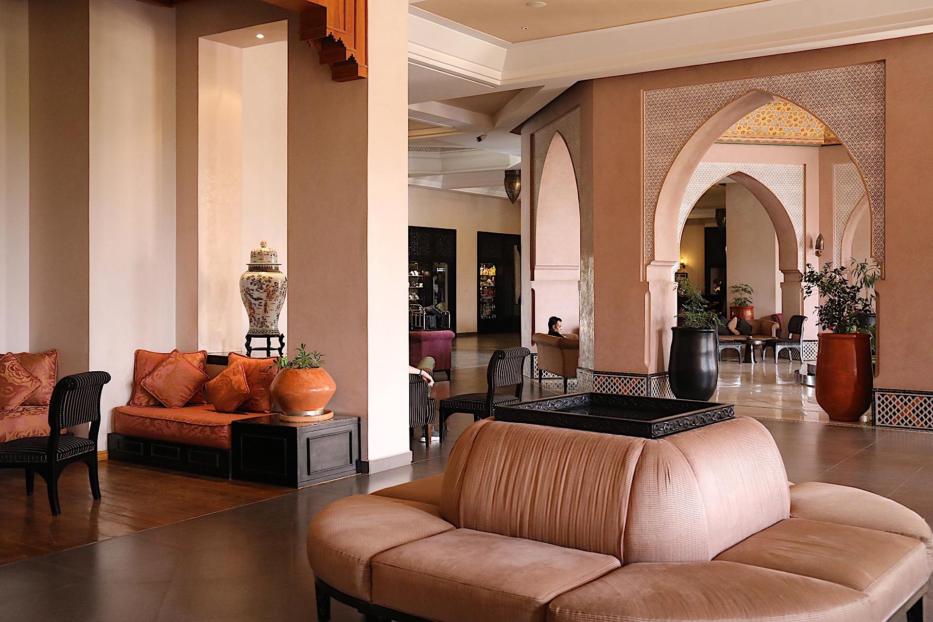 Lobby at Kenzi Menara Palace in Marrakesh, Morocco