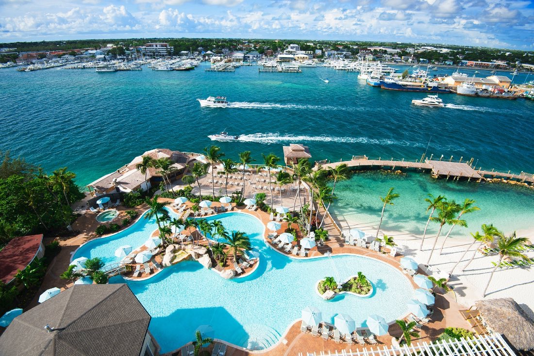 Warwick Paradise Island Bahamas Pool view from the top