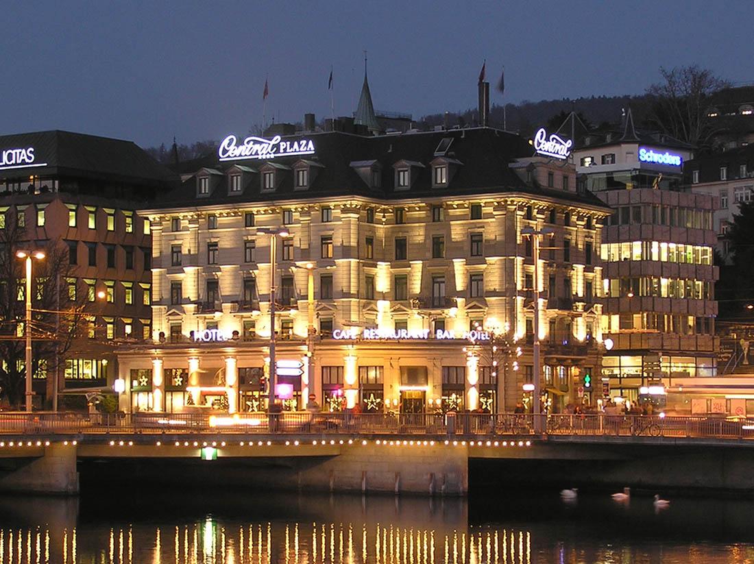 Night at Central Plaza Hotel Zurich