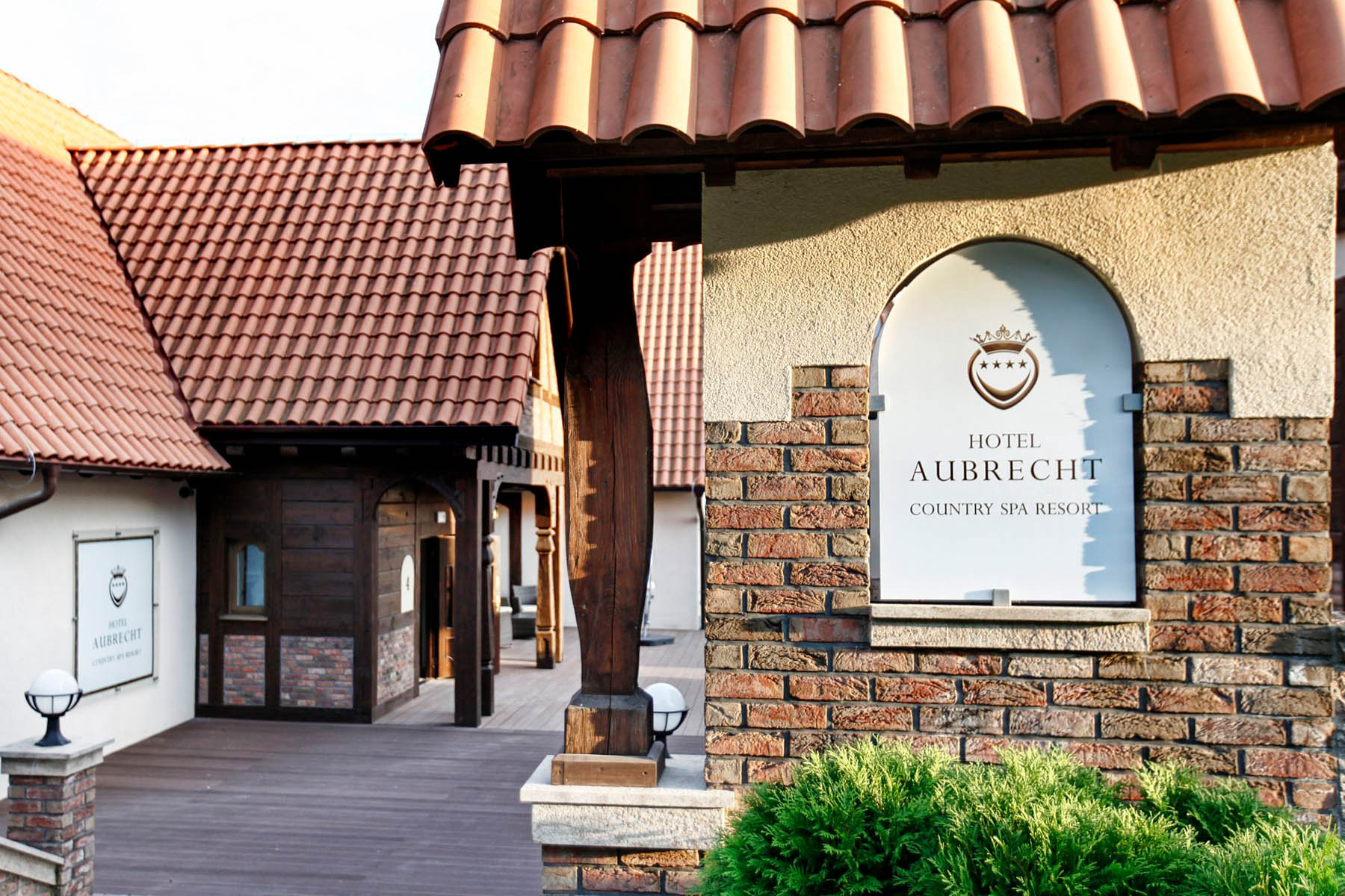 Resort close-up with logo at Hotel Aubrecht Country Spa