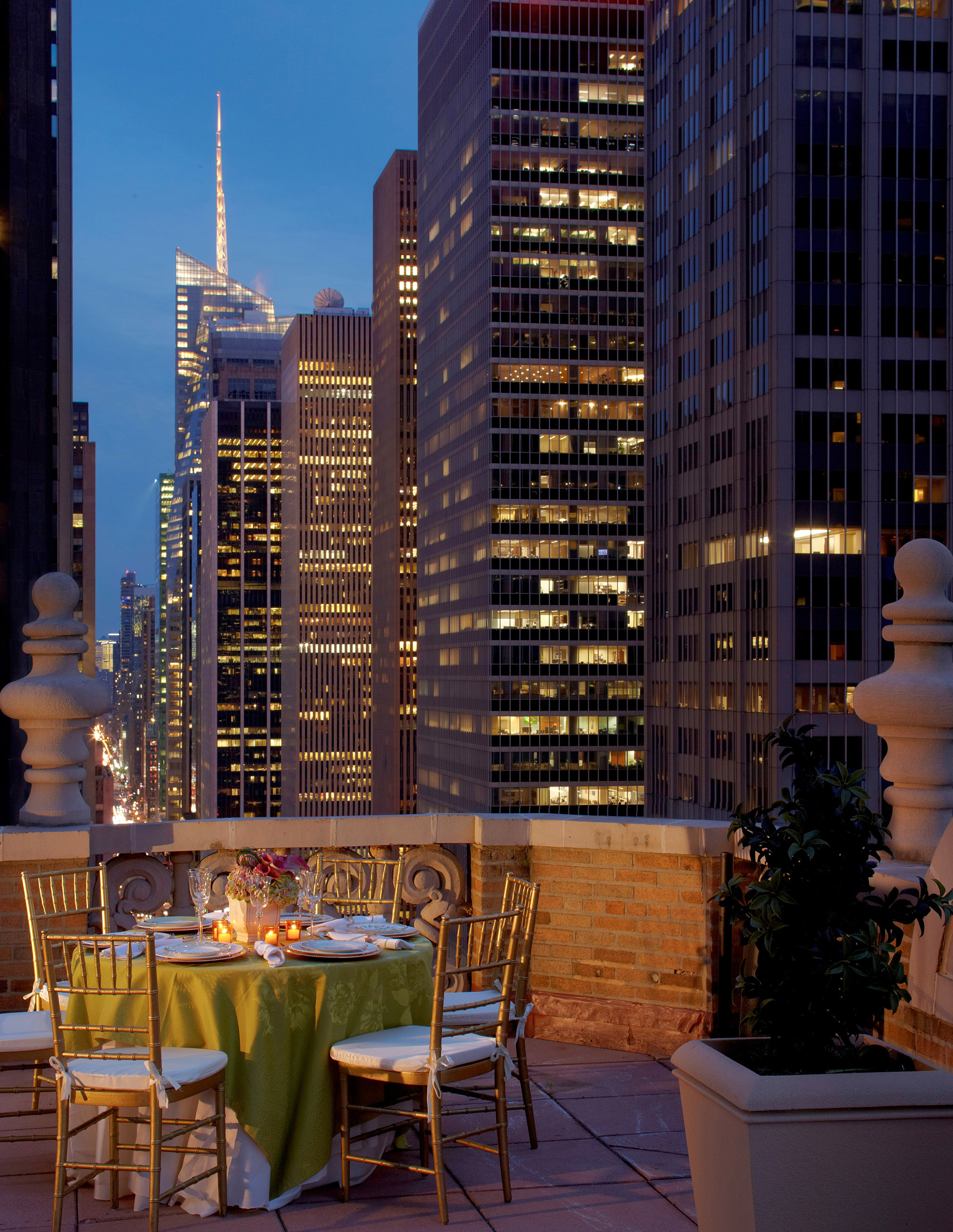 Terrace by Night Dining at Warwick New York