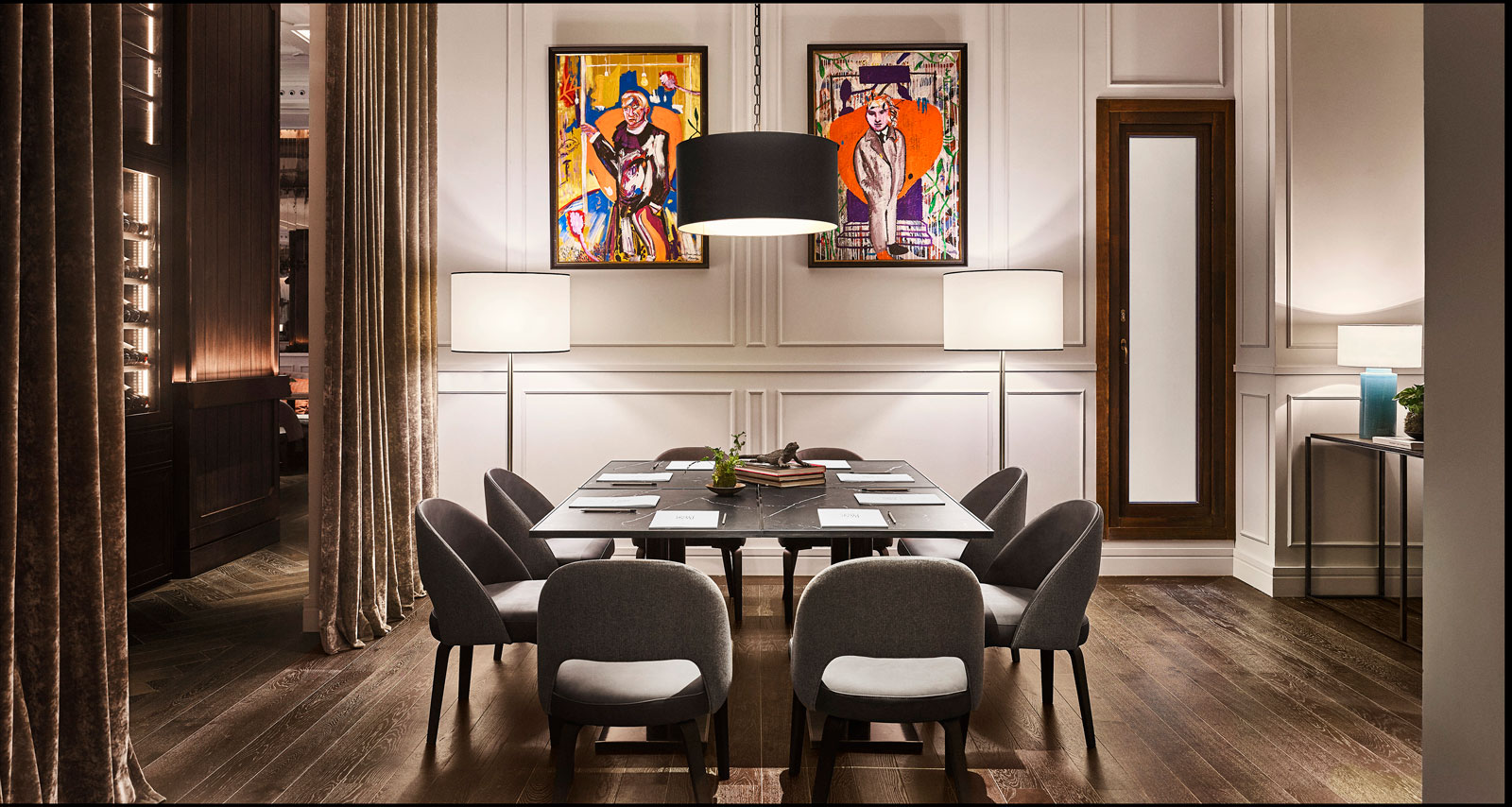 Meeting room at Grand Hotel Inglés in Madrid
