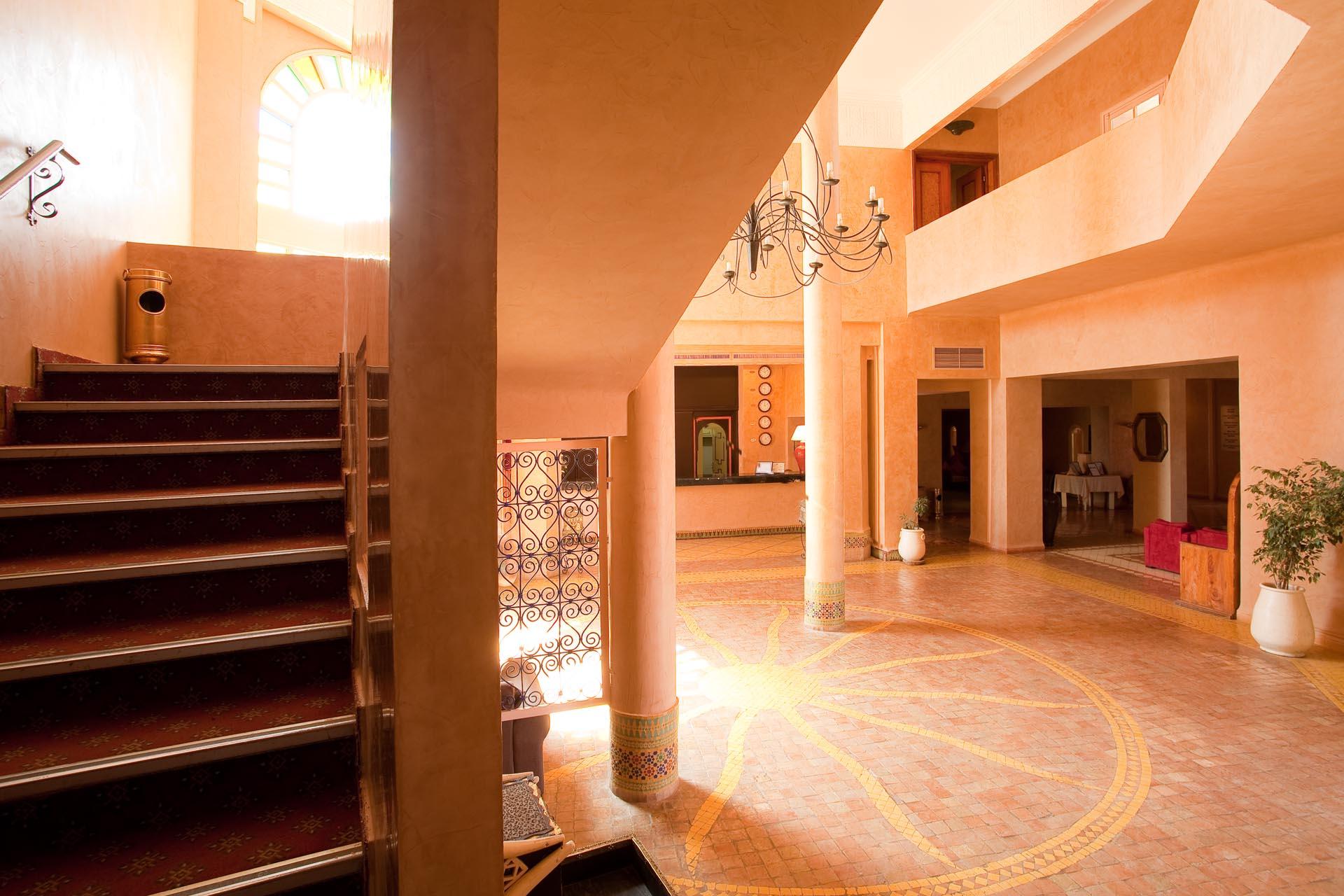Reception at Kenzi Azghor Hotel in Ouarzazate, Morocco