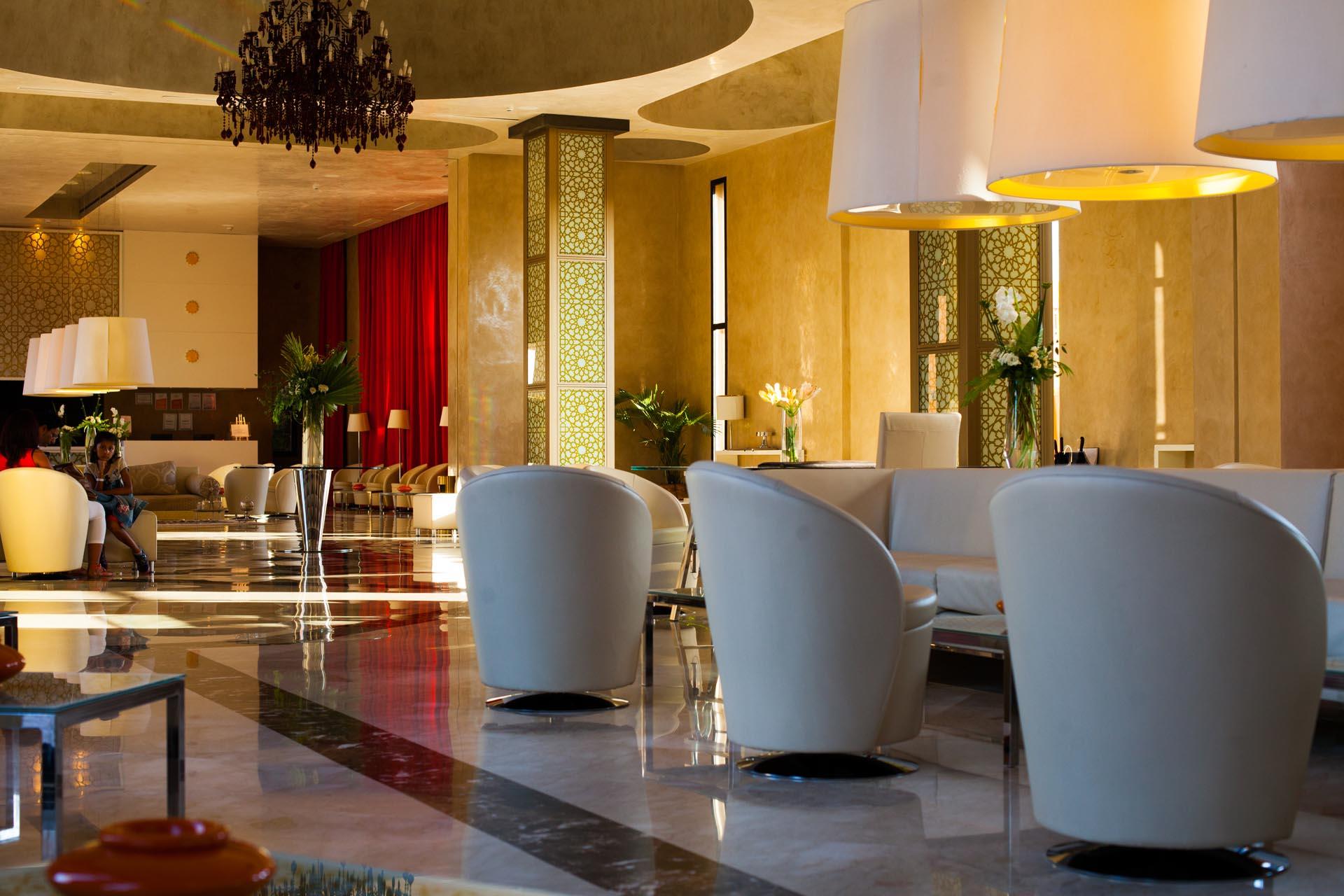 Lobby at Kenzi Club Agdal Medina Hotel in Marrakesh, Morocco
