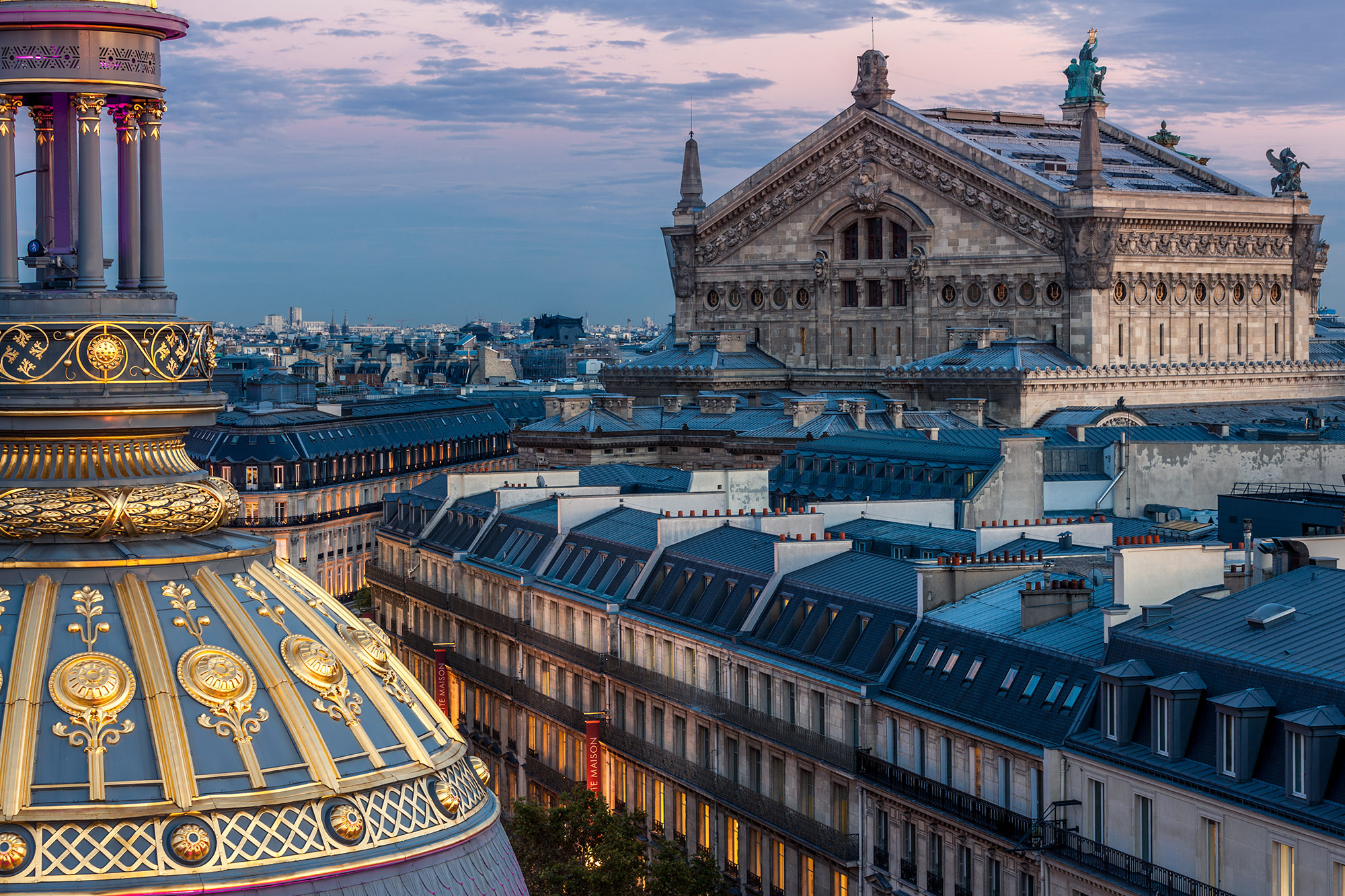 View on Paris rooftop