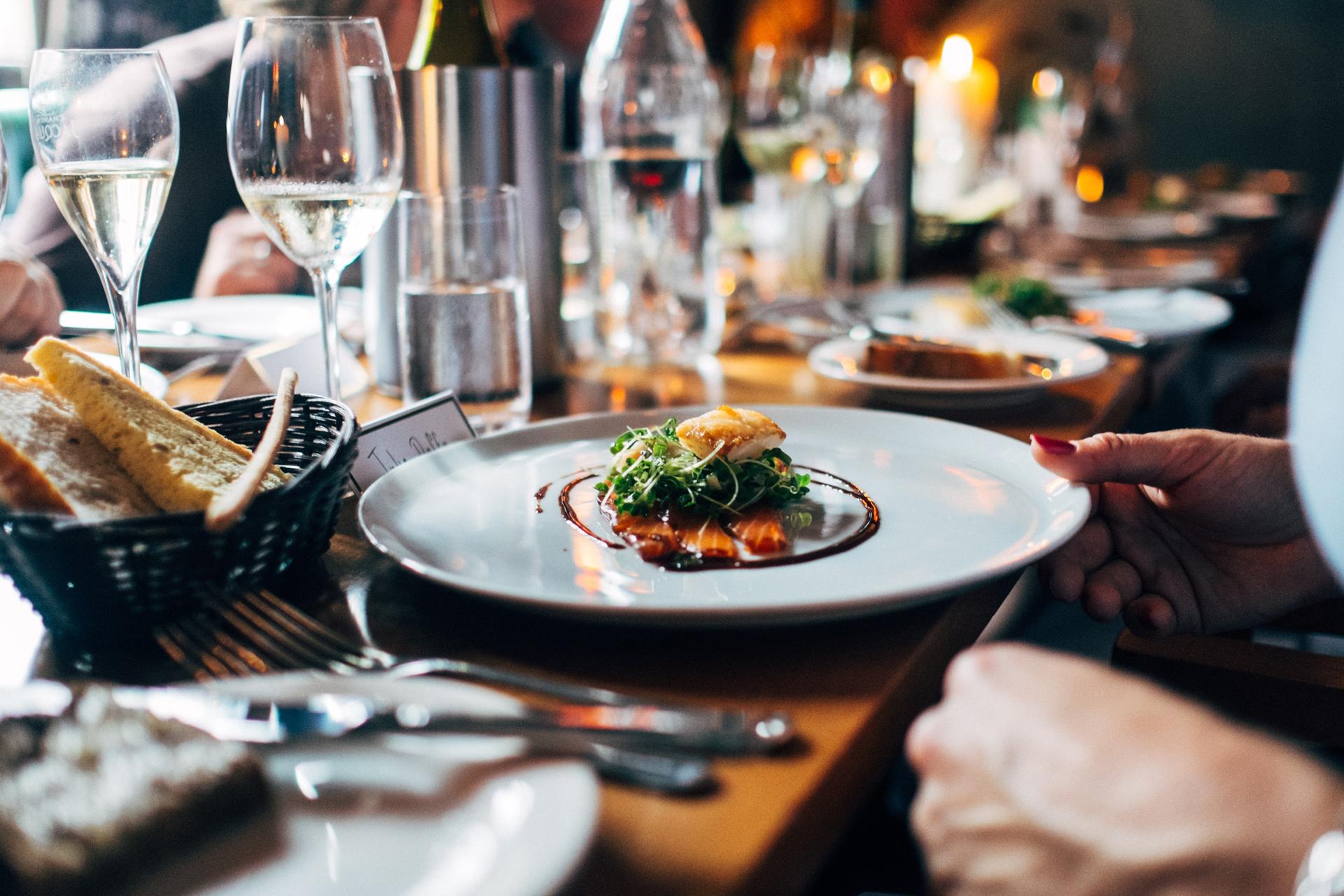 Dining at The Landmark Restaurant