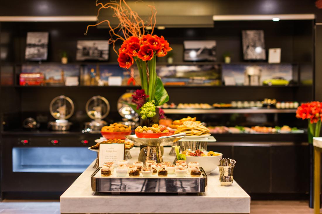 View of a Table Brunch du Restaurant Le W