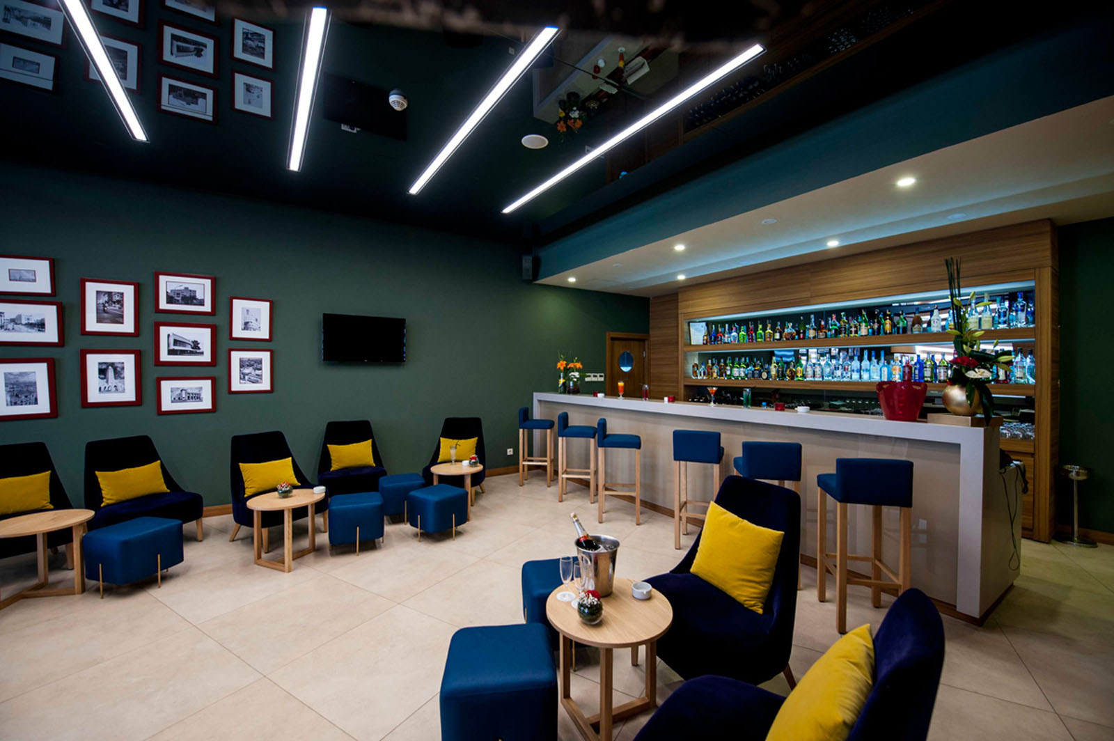 Bar at Kenzi Basma Hotel in Casablanca, Morocco