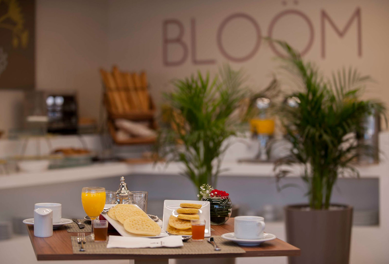 Bloom Restaurant at Kenzi Basma Hotel in Casablanca, Morocco