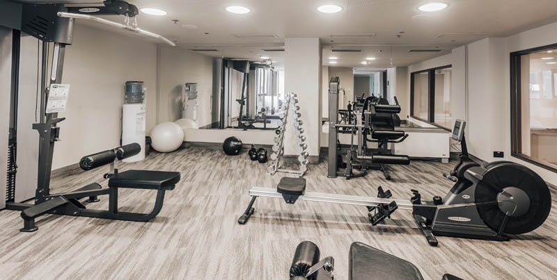 Gym at Hotel Lev in Ljubljana