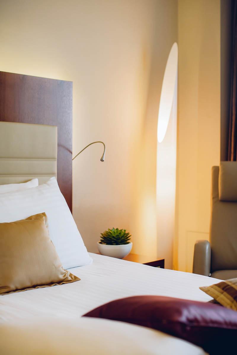 Room detail at uHotel in Ljubljana