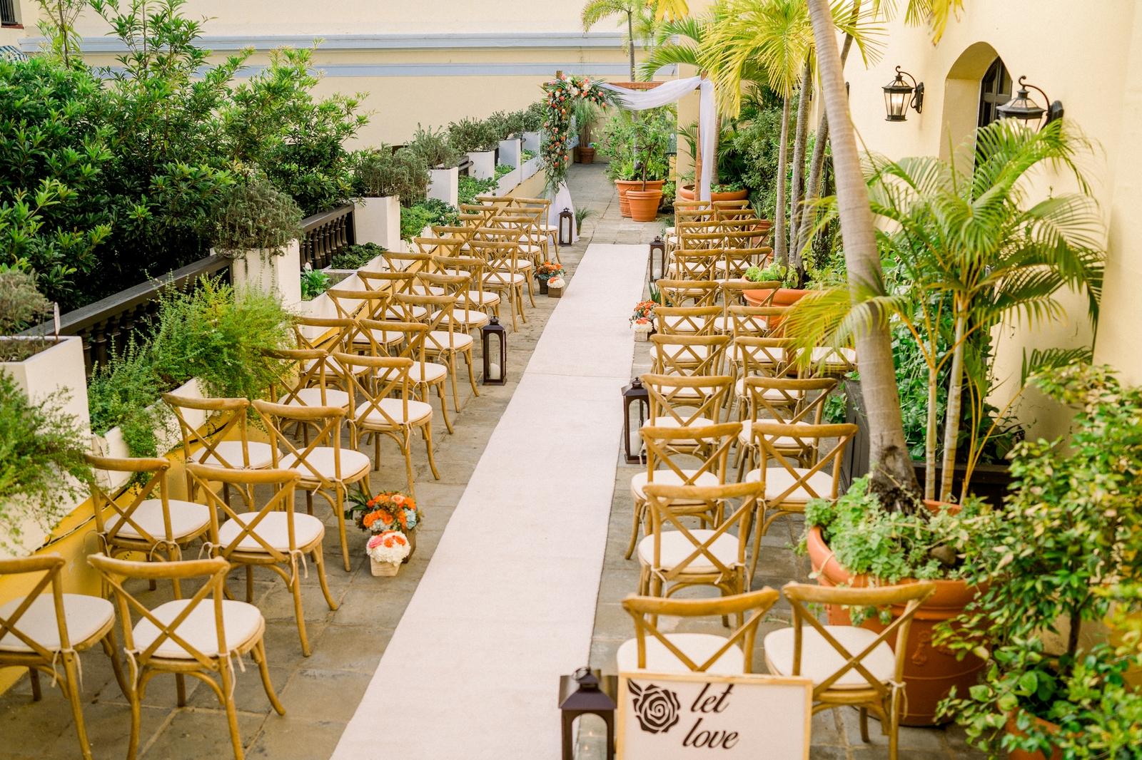 wedding ceremony at hotel at convento
