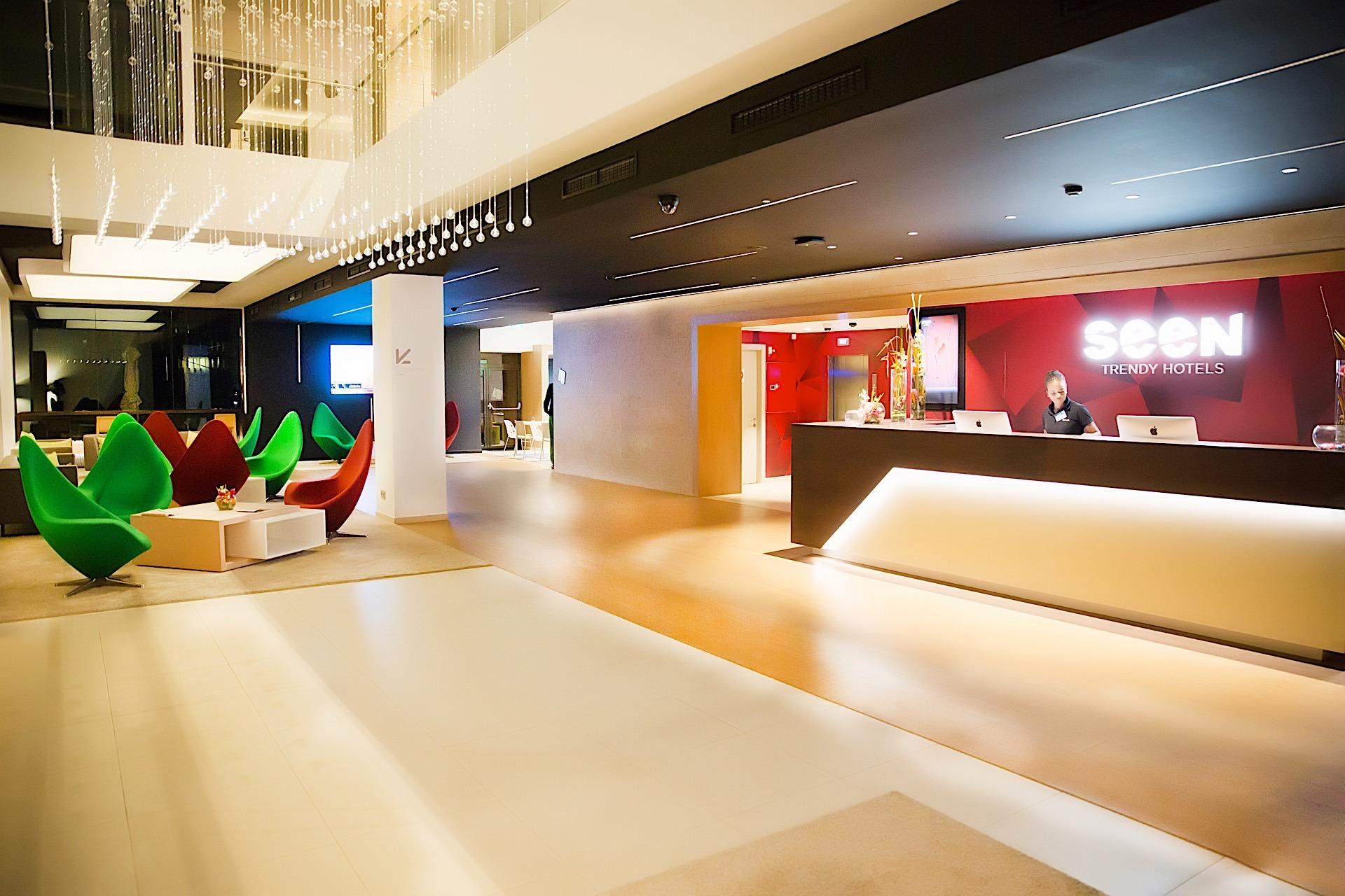 Lobby at Seen Hotel Abidjan Plateau
