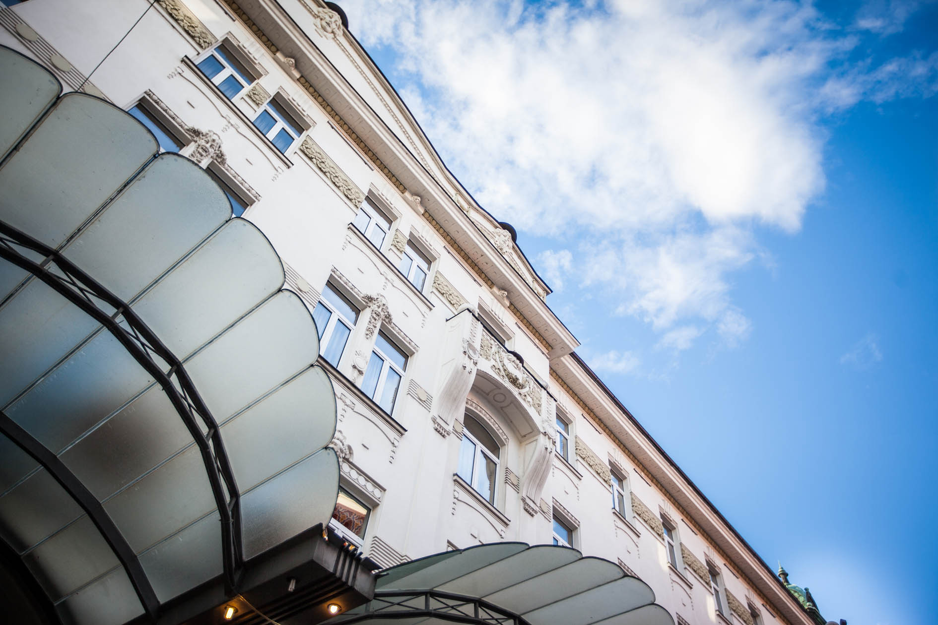 Façade from Grand Hotel Union in Ljubljana