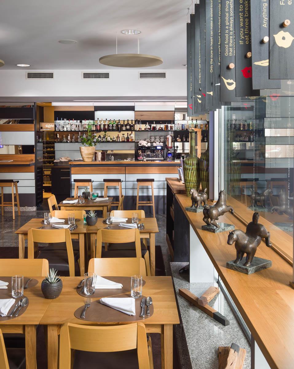 Restaurant at uHotel in Ljubjana