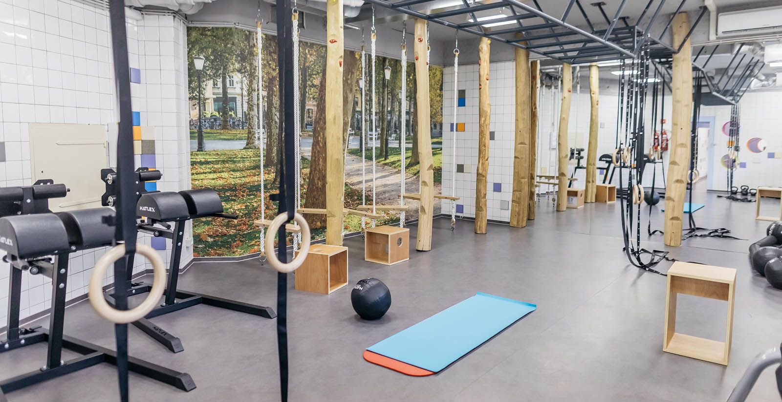 Gym at uHotel in Ljubjana