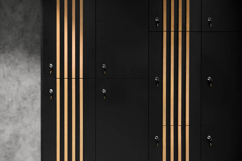 Lockers at Central Hotel in Ljubljana