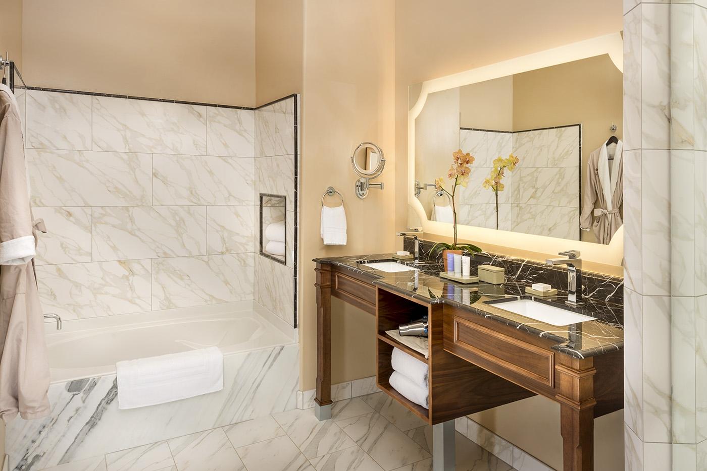 Bathroom at Allegretto Vineyard Resort in Paso Robles