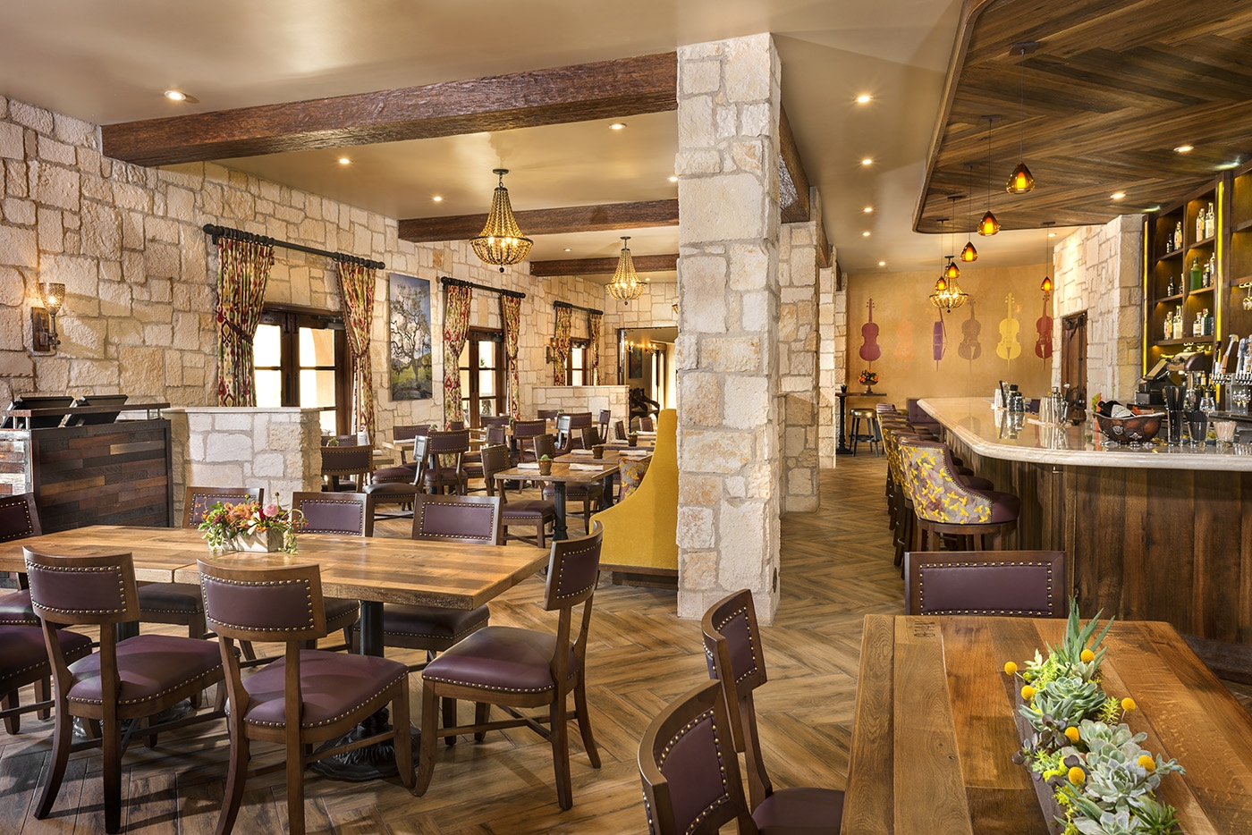 Restaurant at Allegretto Vineyard Resort in Paso Robles
