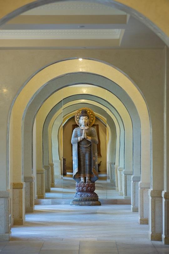 The Interior of Allegretto Vineyard Resort's arched walkways