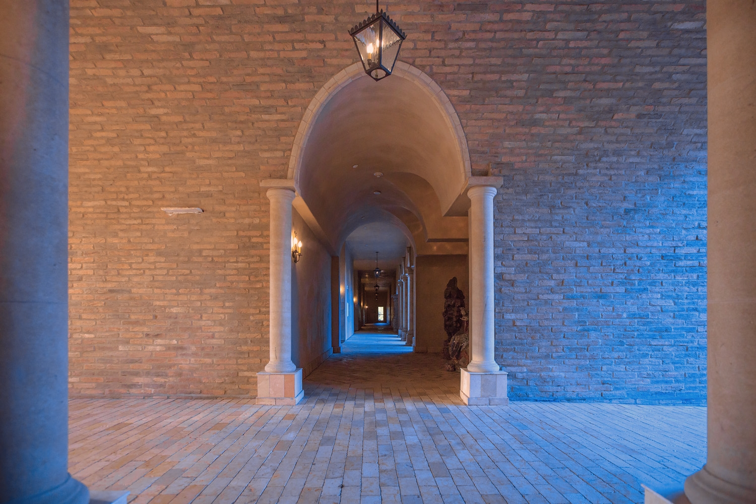 The Interior of Allegretto Vineyard Resort's arched walkways