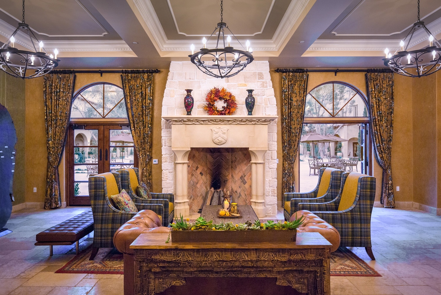The interior of the Allegretto Vineyard Resort living room style