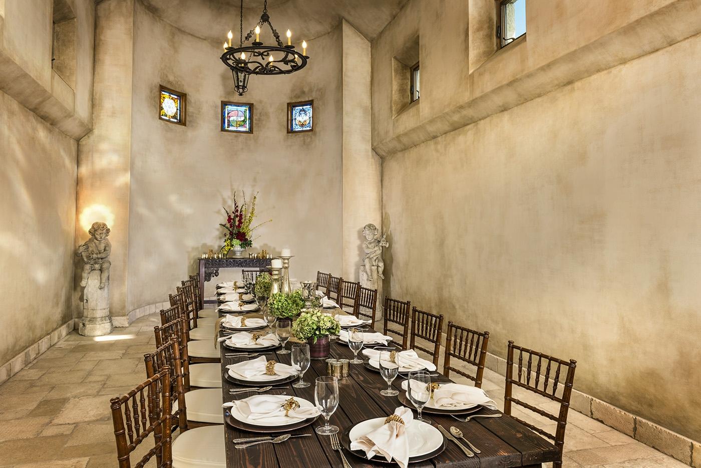 Event area at Allegretto Vineyard Resort in Paso Robles
