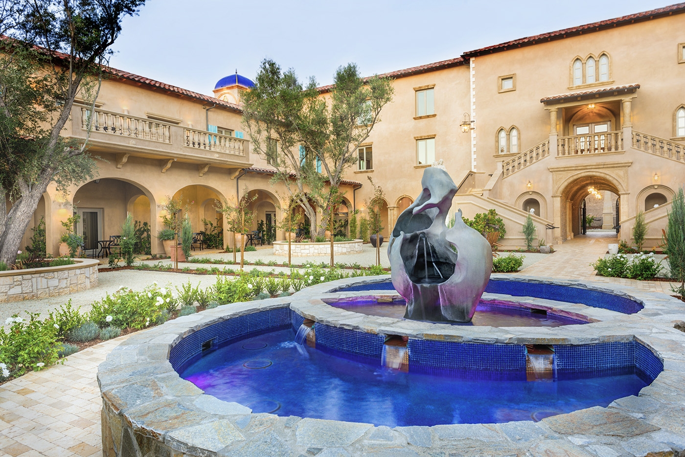 The resorts center courtyard fountain, Piazza magica