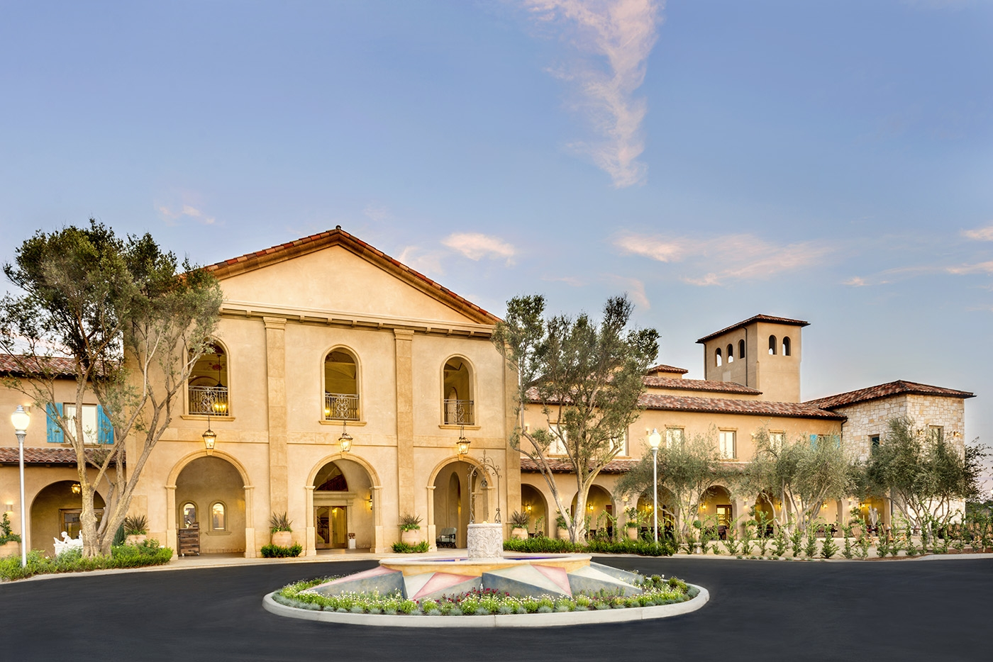 Allegretto Vineyard Resort's Entrance in Paso Robles