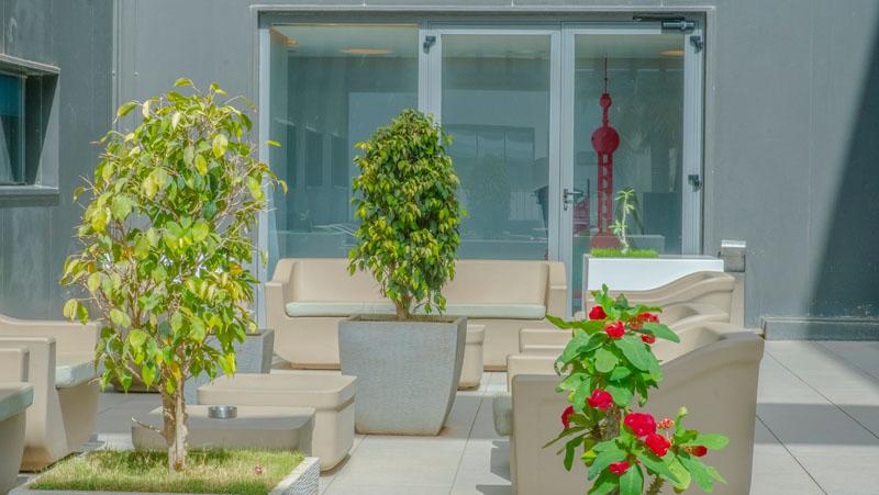 Terrace at Yaas Hotel Almadies Dakar