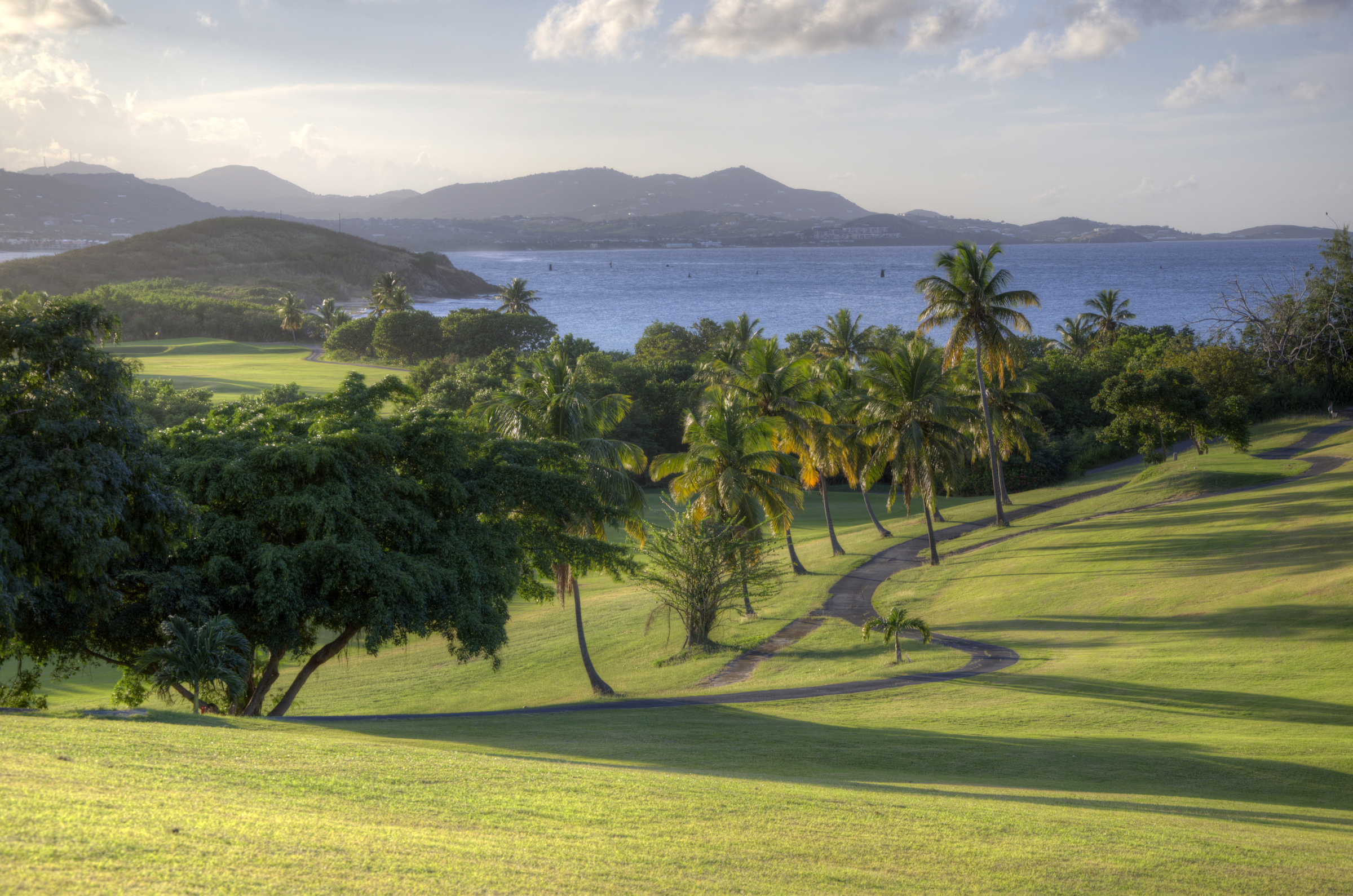 Sweeping greens with ocean views at the onsite golf course