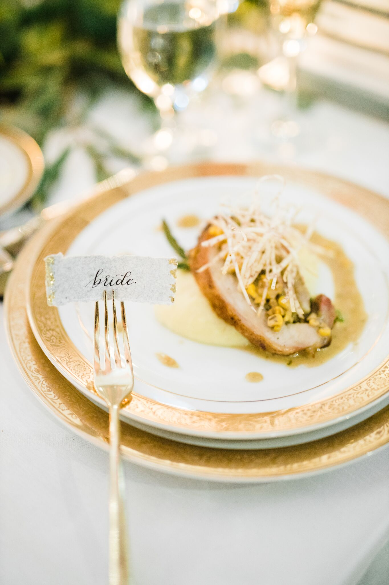 Wedding dinner plate