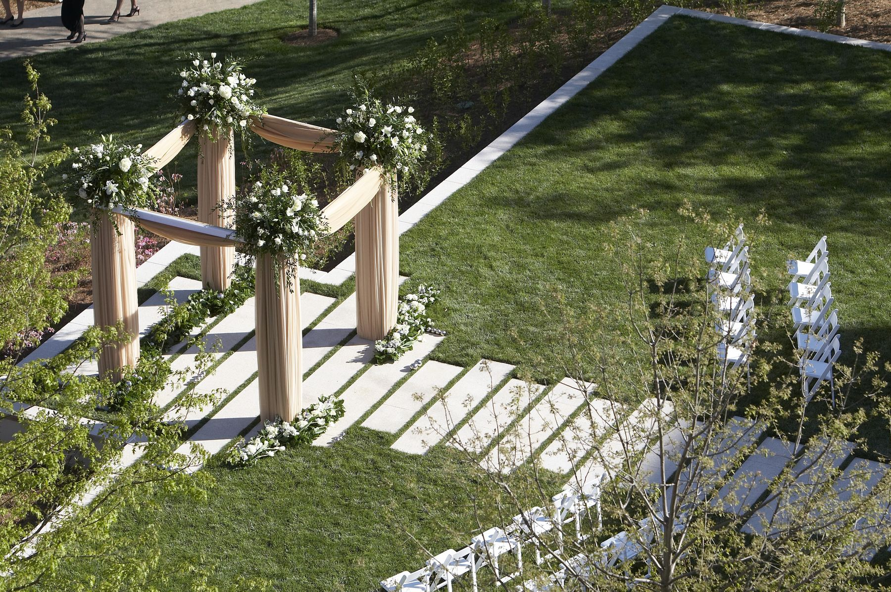 wedding alter with floral decorations