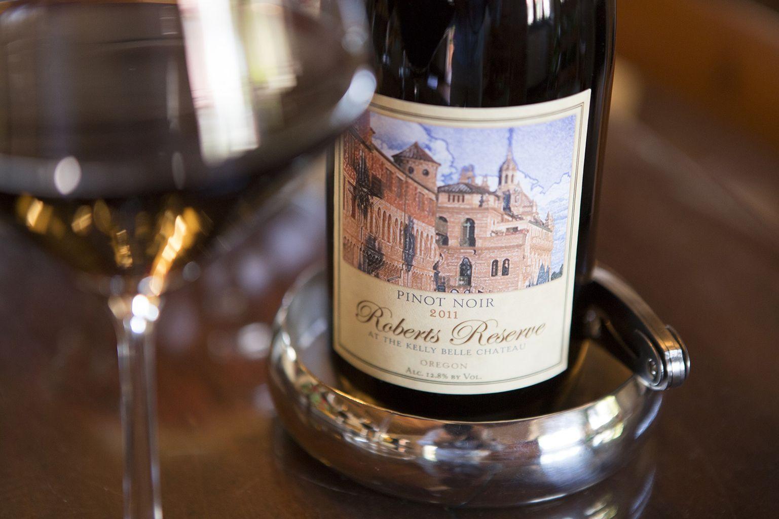 bottle of Robert's Reserve wine